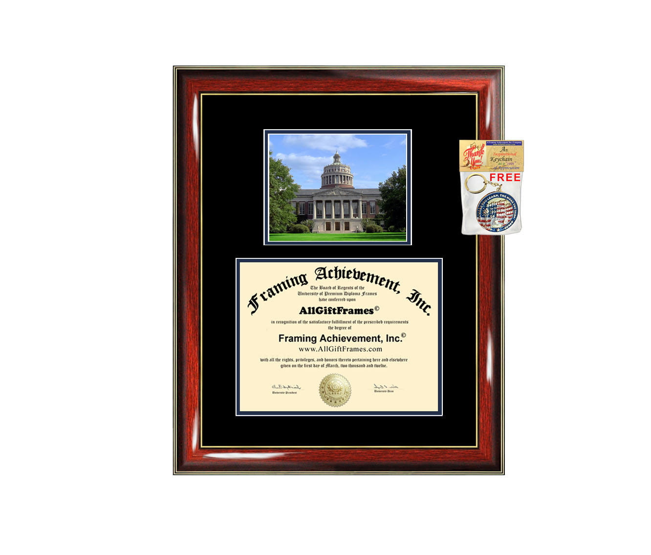 University of Rochester diploma frame campus photo certificate framing