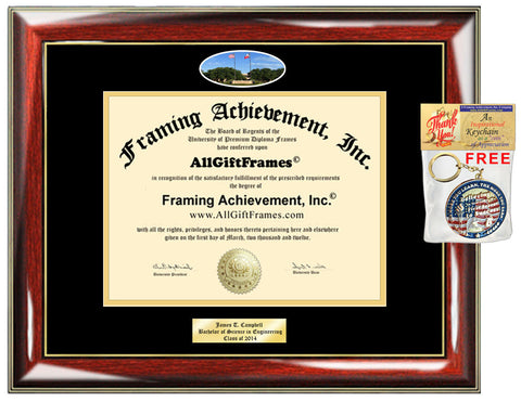 Angelo State University diploma frame ASU school picture campus certificate Personalized Bachelor Master phd mba Engrave Holder Case