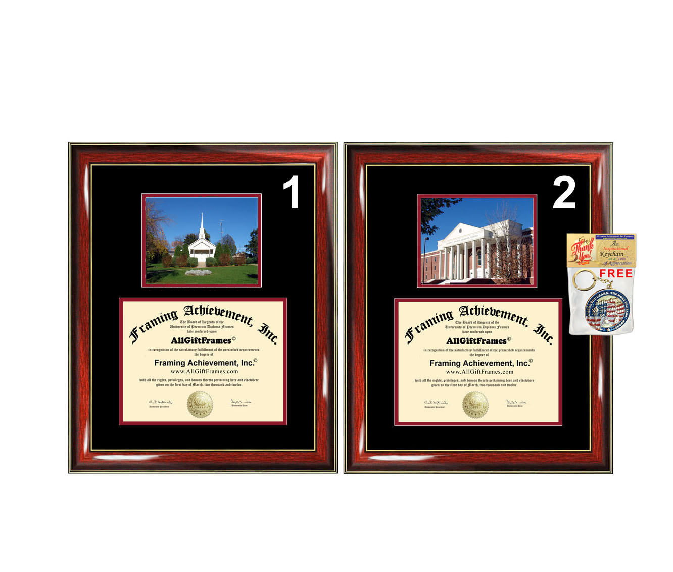 Liberty University diploma frame campus photo certificate framing grad