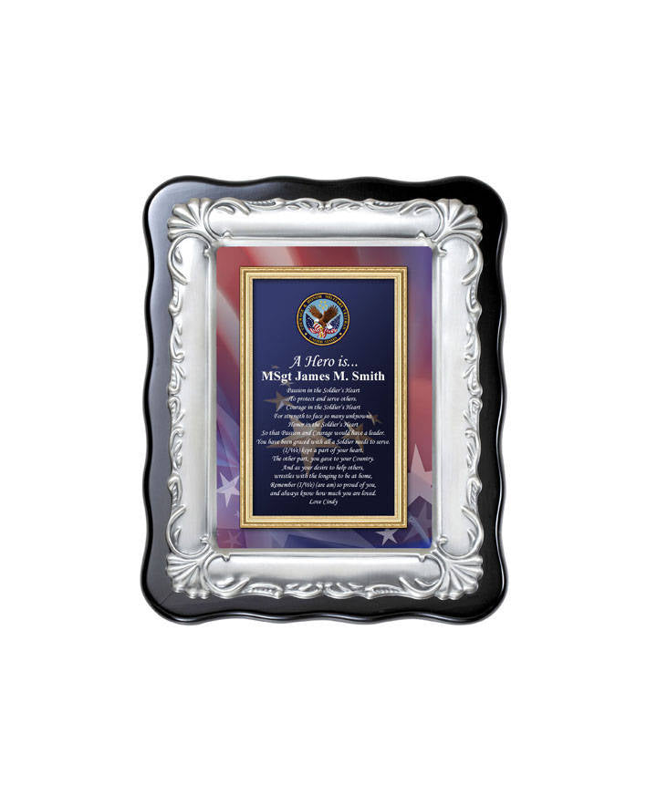 Personalized Military Plaque Gift Retirement Service Poetry Frame Goin