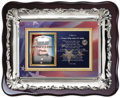 Military Picture Frame Photo Frame Plaque Personalized Military Gift Going Away Homecoming Retiree Soldier Retirement Present Love Poetry
