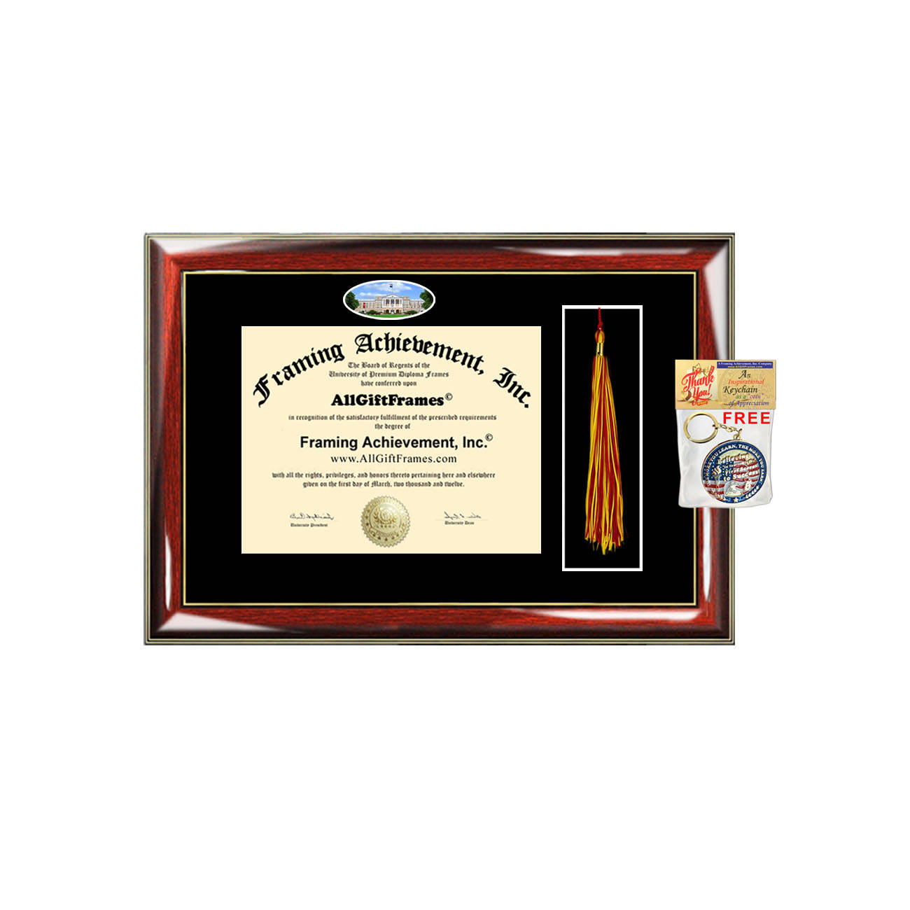 University Of Wisconsin Madison Diploma Frame Tassel Holder Case Box U