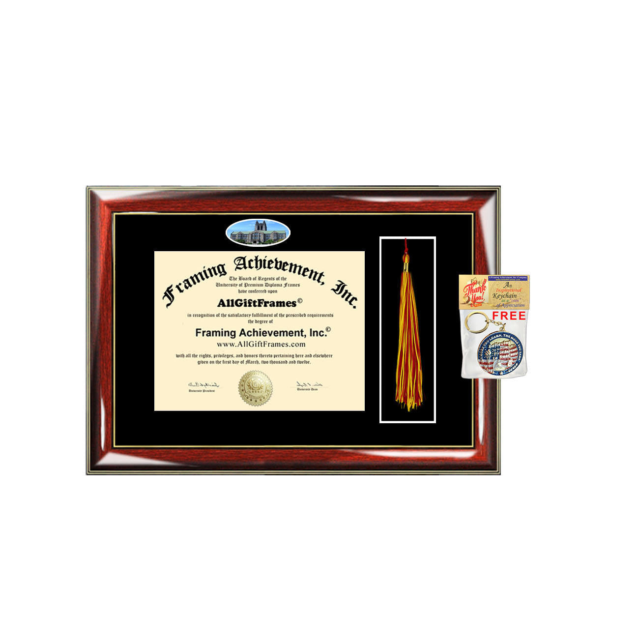 Boston College diploma frame Tassel Holder campus picture Boston case