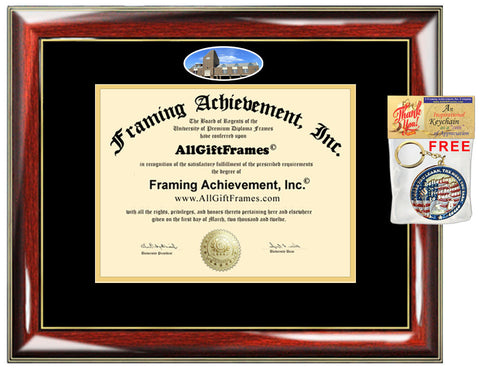 Bellarmine University diploma frame school picture campus certificate degree holder diploma framing gift graduation plaque document graduate
