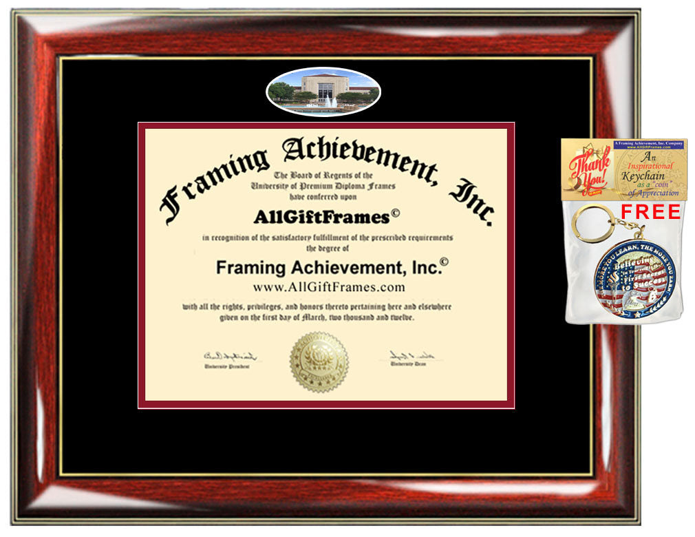 University of Houston diploma frame campus picture framing diploma cer