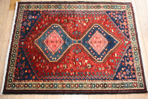 Yalameh Rug 155x115 X6398 - Persian Tribal Rugs
