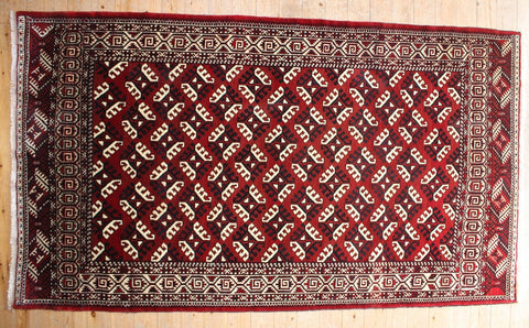 Turkman Rug 310x180 Z939 - Persian Tribal Rugs