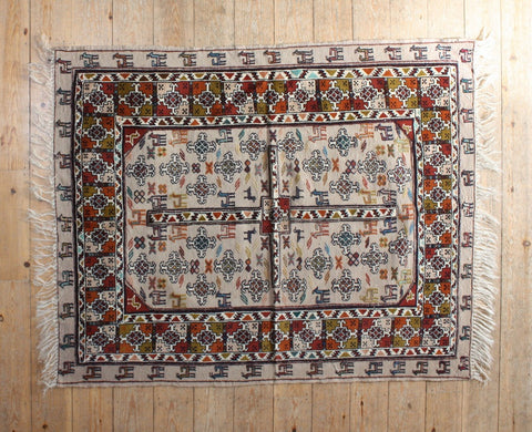 Persian Kilim 148x117 F95 - Persian Tribal Rugs - 1