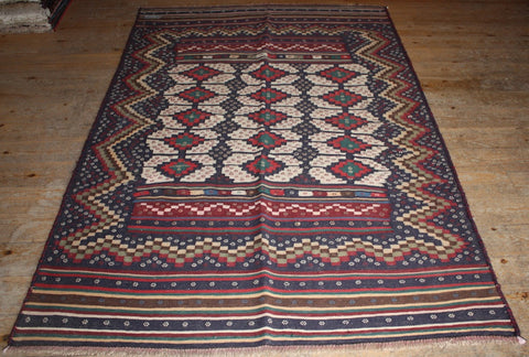 Persian Kilim 220x143 Z1813 - Persian Tribal Rugs - 1