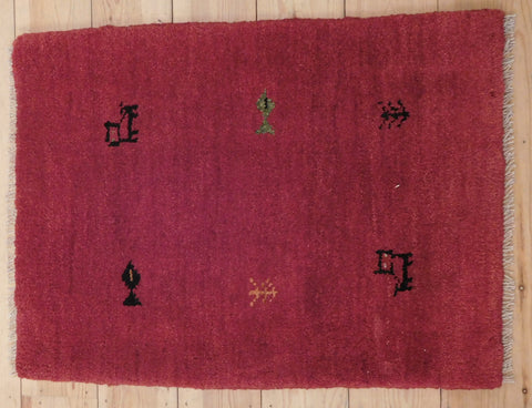 Gabbeh Rug 80x58 Z4946 - Persian Tribal Rugs