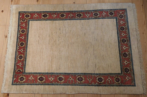 Gabbeh Rug 146x105 X6607 - Persian Tribal Rugs
