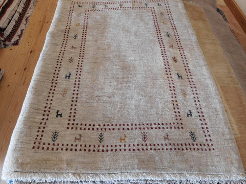 Gabbeh Rug 155x107 Z4256 - Persian Tribal Rugs