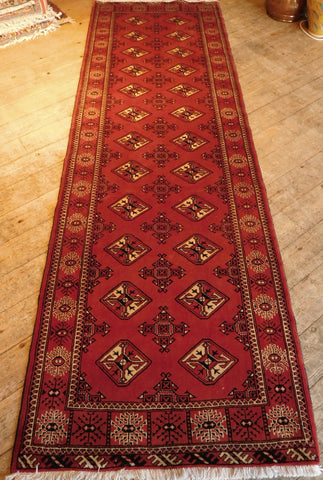 Turkman Runner 294x93 Z5245 - Persian Tribal Rugs
