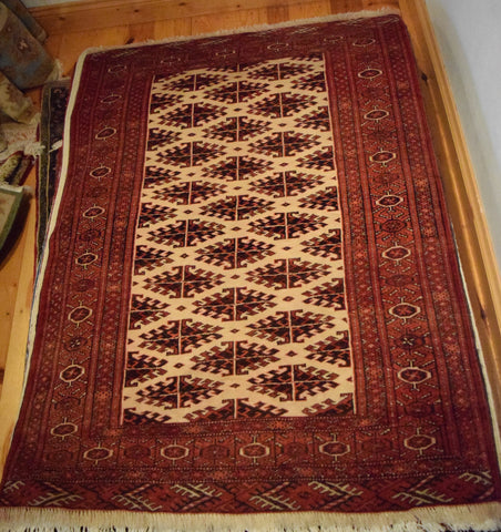 Turkman Rug 148x106 Z1055 - Persian Tribal Rugs