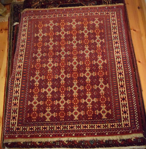 Balouch Rug 123x105 V3068 - Persian Tribal Rugs