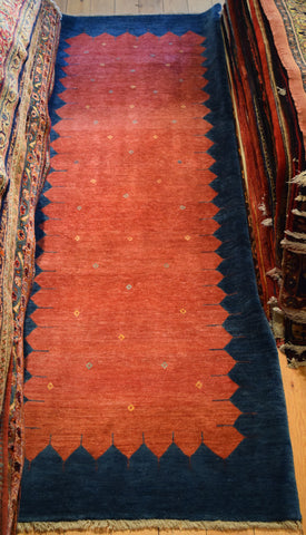 Gabbeh Runner 297x106 Z1343 - Persian Tribal Rugs