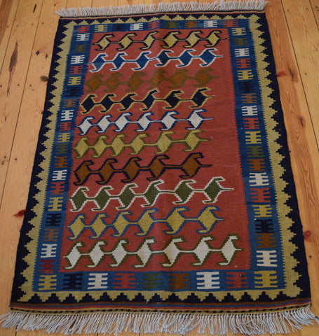 Persian Kilim 160x103 D45 - Persian Tribal Rugs
