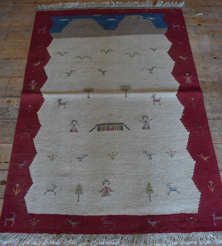 Persian Kilim 143x100 Z4444 - Persian Tribal Rugs