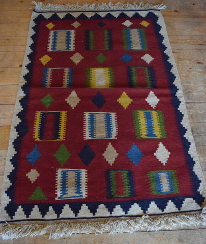 Persian Kilim 147x100 Z2754 - Persian Tribal Rugs