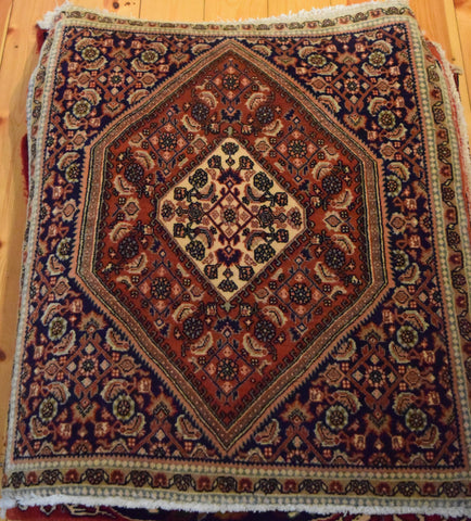 Bijar Rug 90x76 X5094 - Persian Tribal Rugs