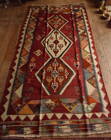Persian Kilim 270x135 AA94 - Persian Tribal Rugs