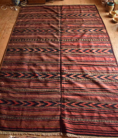 Persian Kilim 285x187 X5933 - Persian Tribal Rugs