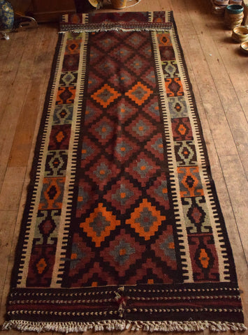 Persian Kilim 320x116 D59 - Persian Tribal Rugs