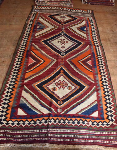 Persian Kilim 297x135 AA87 - Persian Tribal Rugs