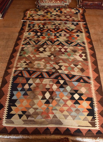 Persian Kilim 385x150 AA86 - Persian Tribal Rugs