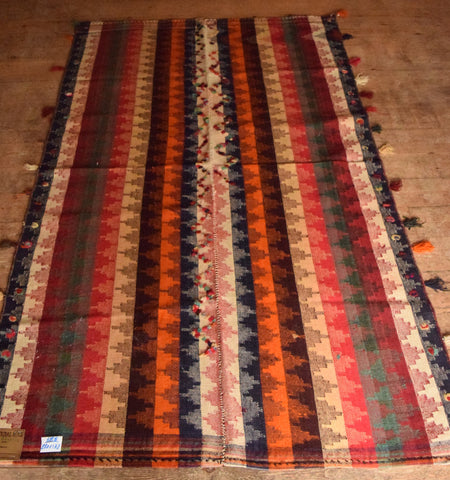 Persian Kilim 220x132 X1547 - Persian Tribal Rugs