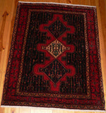 Senneh Rug 160x127 Z195 - Persian Tribal Rugs