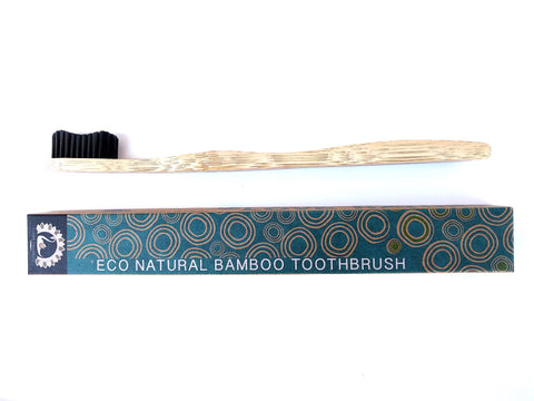 Bamboo Toothbrush - Single with Black Colour Bristles