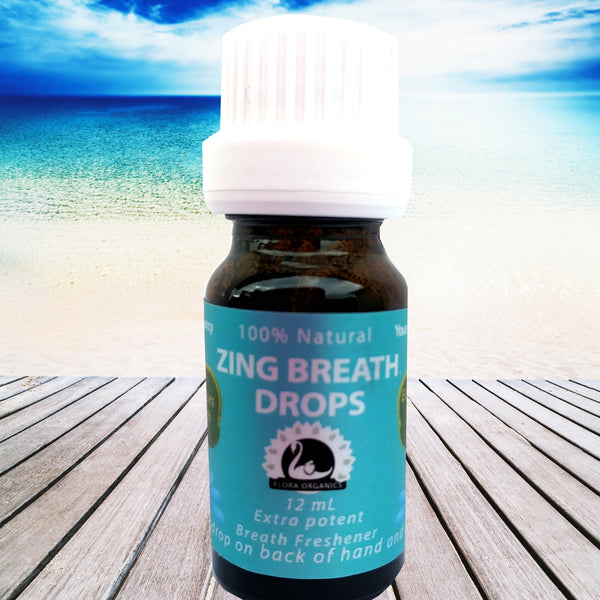 Breath Freshener - ZING Mouth Drops with Peppermint, Fennel & Chlorophyl