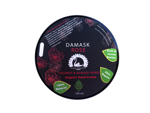 Cocoa Butter, Coconut Oil & Manuka Honey Hand Cream - Damask Rose & Neroli - 100 mL