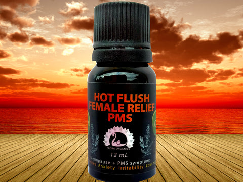 Aromatherapy blend - HOT FLUSH + MENOPAUSE + PMS Remedy
