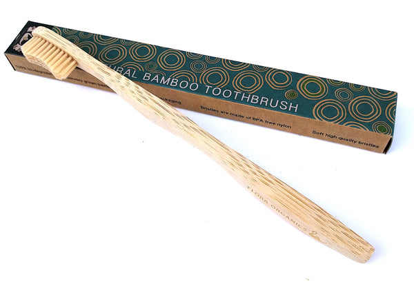 Bamboo Toothbrush - Single with Natural Colour Bristles