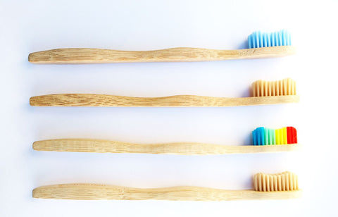 Bamboo Toothbrush - Pack of Four - Multi Colour