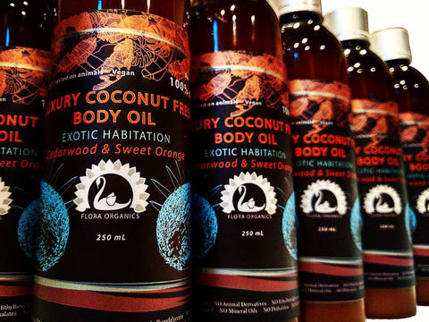 Organic Coconut Oil - Almond Oil - Body Oil - Exotic Habitation