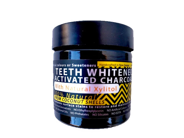 Teeth Whitener Kit - Activated Coconut Charcoal & Bamboo Toothbrush