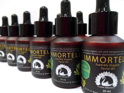 'IMMORTELLE' Facial oil Organic & Rejuvenating - Antioxidant & Retinol rich - 30 mL