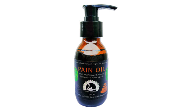 Pain Oil - 100% Natural with Wintergreen, Ginger, Turmeric & Manuka oils - 100 mL