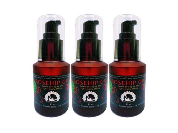 Rosehip oil - Certified organic - source of natural Retinol - 60 mL larger value quantity