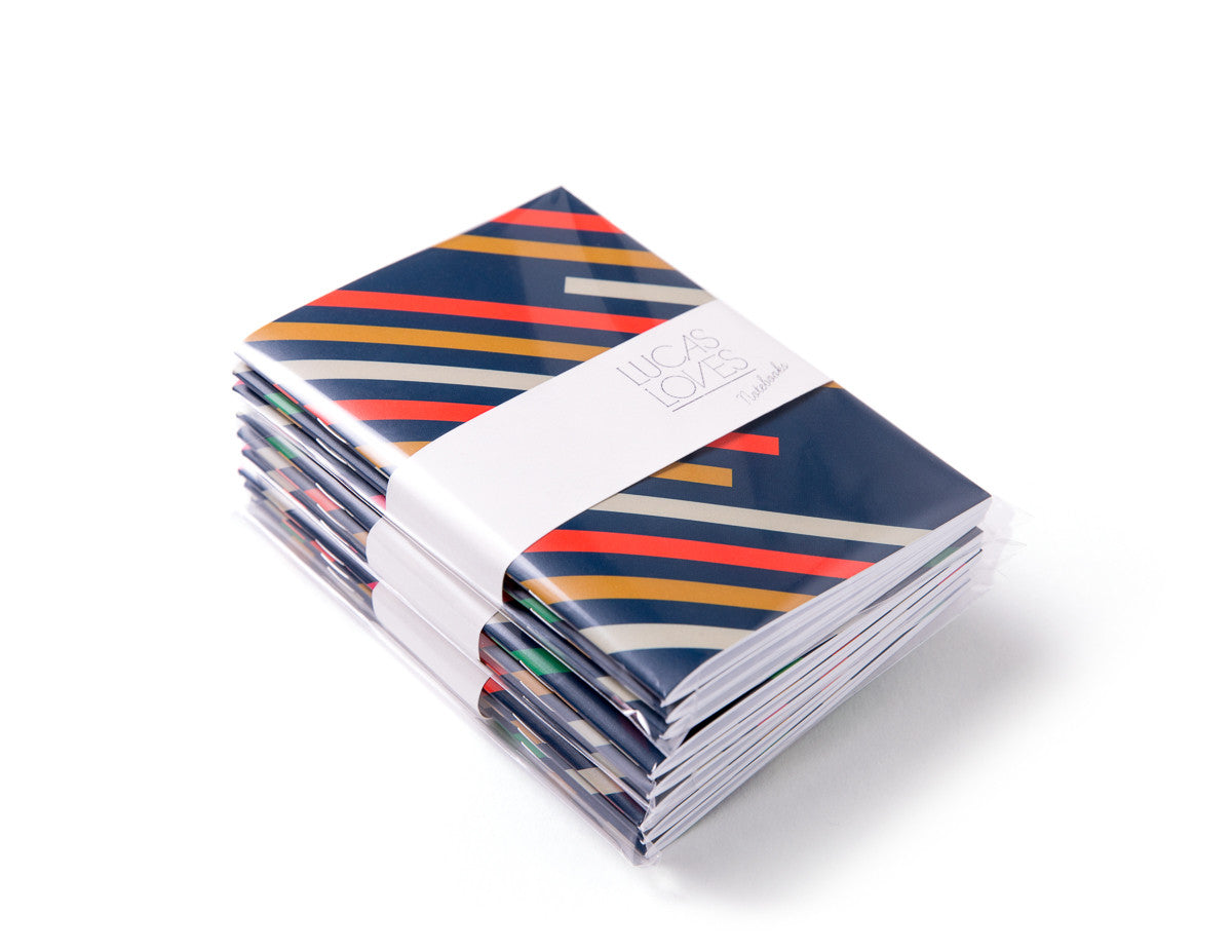 Pocket Notebooks, pack of 3 | STRIPES