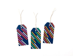 Gift Tags, pack of 6 | STRIPES