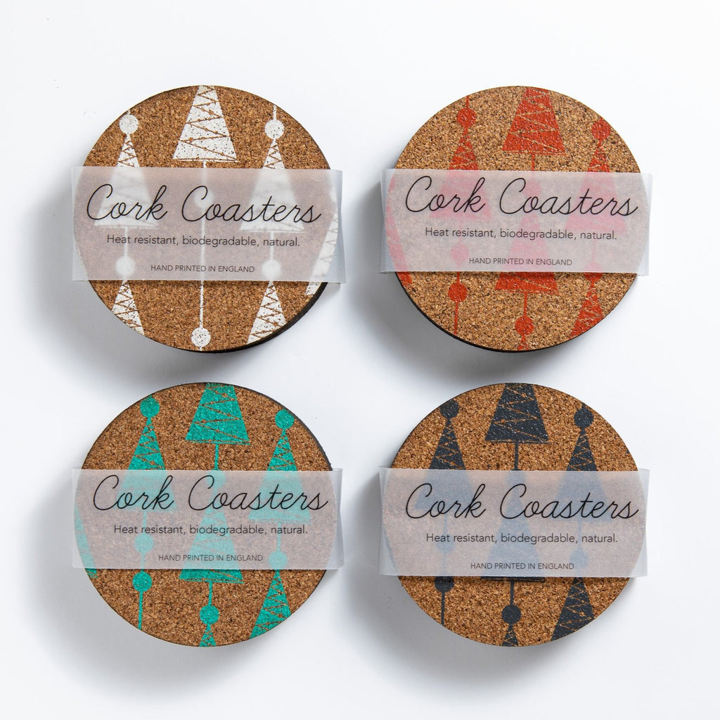 Christmas Cork Coasters | FIRS