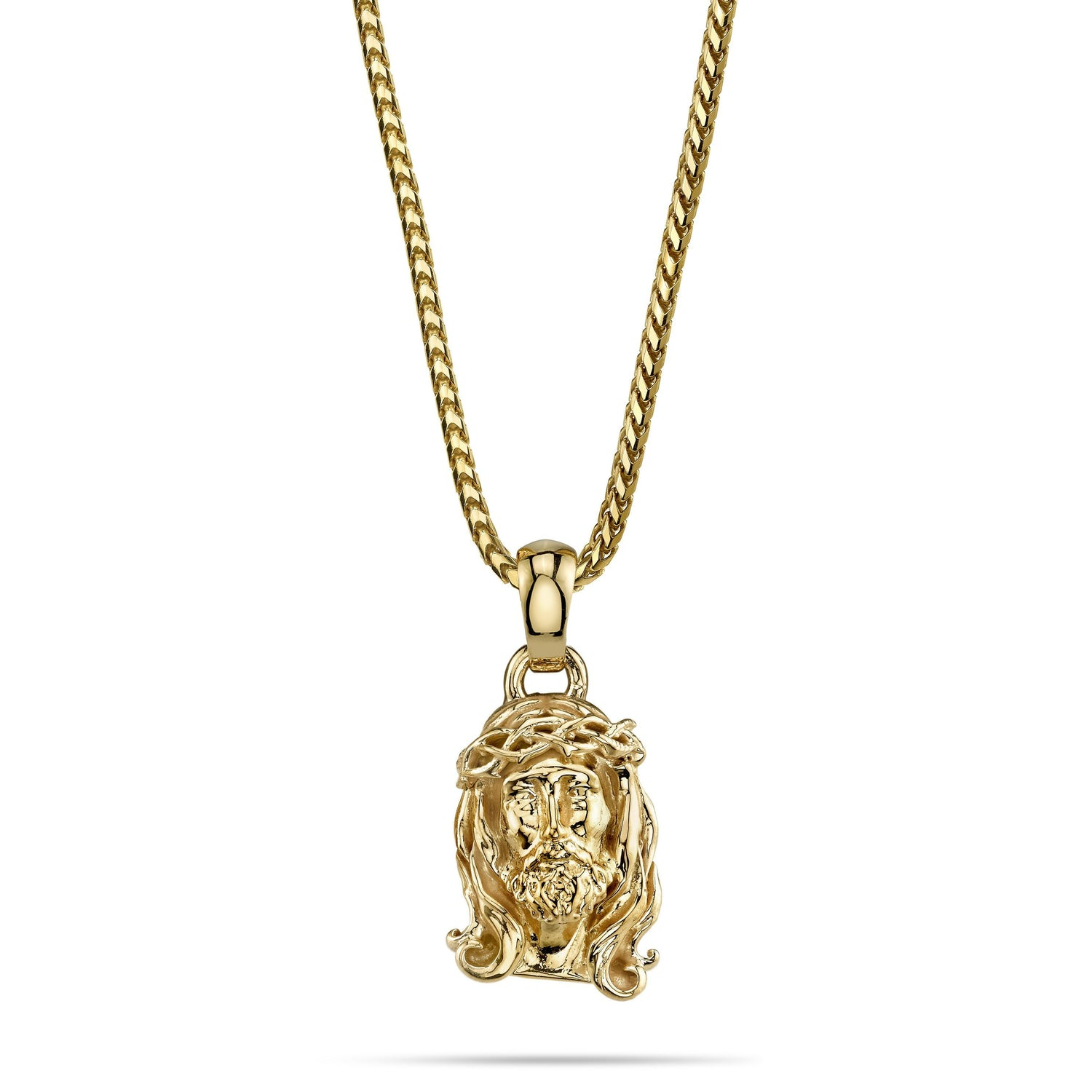 small pendant pendants face gold mens long jesus yellow