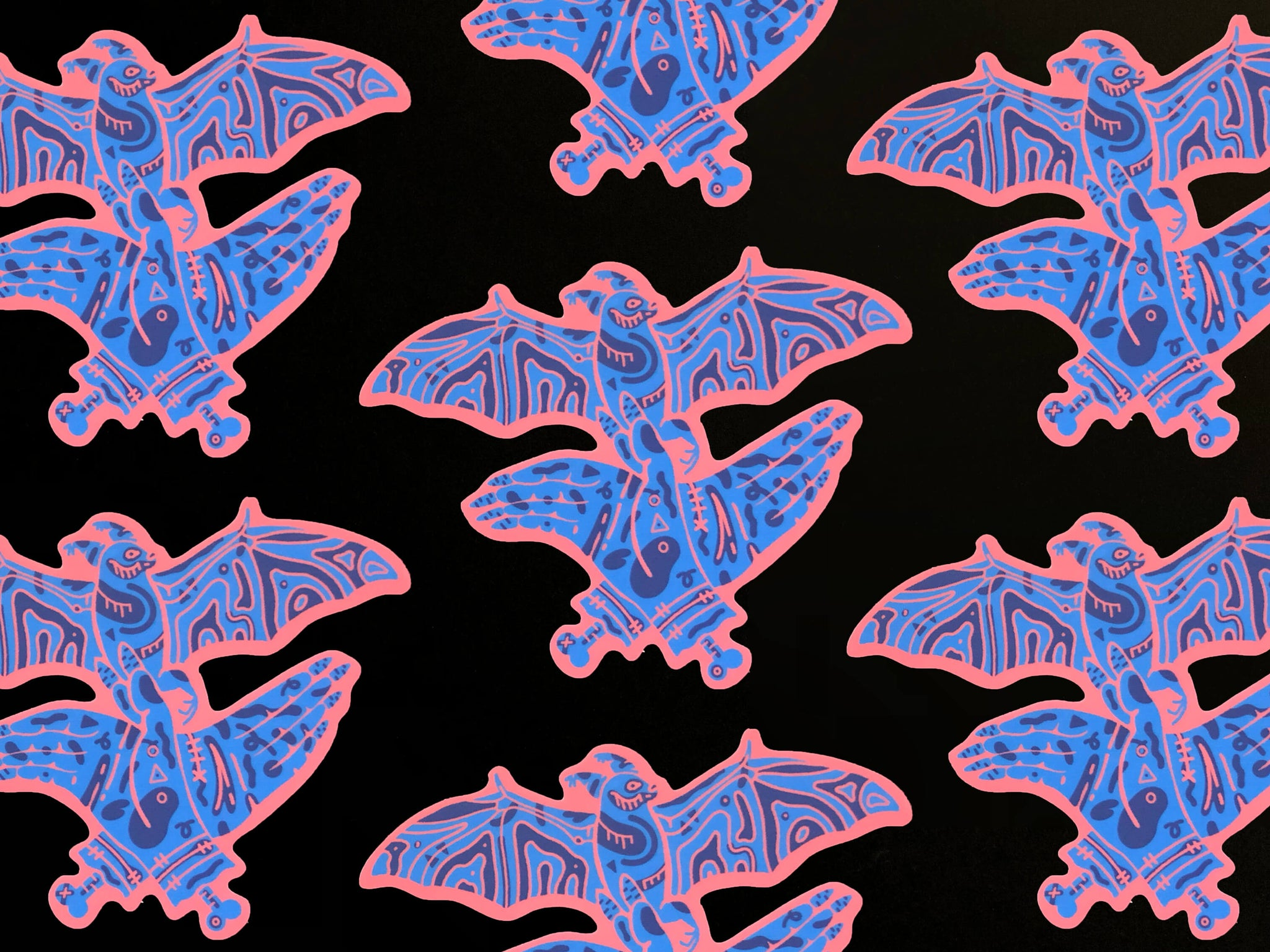 Bat Shadow Puppet Sticker