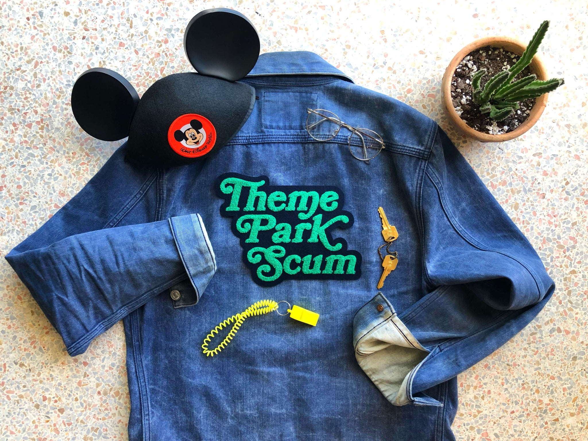 Theme Park Scum Chenille Back Pack