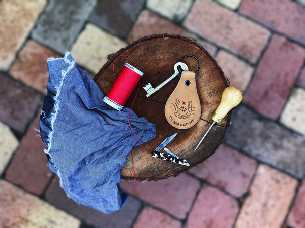 Lucky Day Leather Key Fob