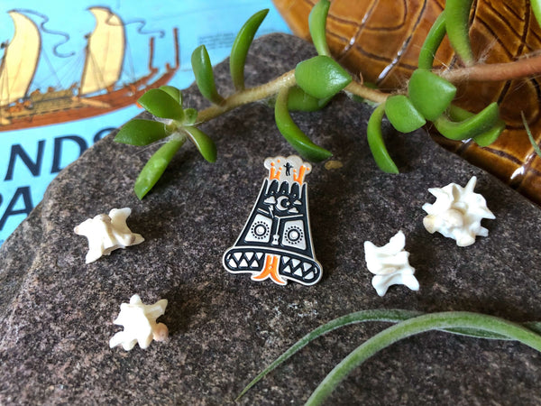 Into the Angry Volcano! Lapel Pin